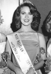 Anita Cobby after winning the Miss Western Suburbs title in 1979.