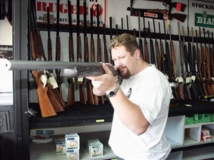Darren Ellis in a file photo taken in 2002 when he worked in a local gun shop.