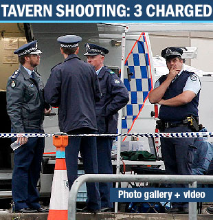 THREE people  charged over the attempted shooting murder of Detective Senior Constable Damian Leeding