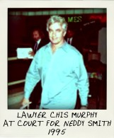 1995 Lawyer Chris Murphy at Neddy hearing at St James Court.-pola
