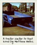 A trailer similar to that hired by Matthew Wales.-pola