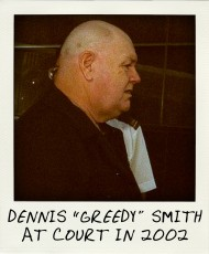 Dennis Greedy Smith leaving the County Court in 2002-aussiecriminals