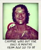 Mark Chopper Read spent just 13 months outside prison between the ages of 20 and 38.-pola