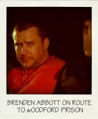 POSSIBLE SA MOVE Postcard Bandit Brenden Abbott (left) is escorted to Woodford Correctional Centre in 1998-001-pola