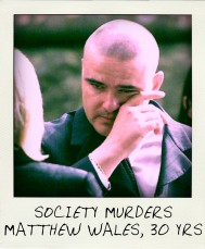 The infamous picture of Matthew Wales shedding tears at the joint funeral of his mother Margaret Wales-King and Paul King.-aussiecriminals