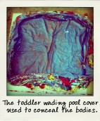 The toddler wading pool cover used to conceal the bodies.-aussiecriminals