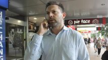 Pale faced Gerard Baden Clay shopping