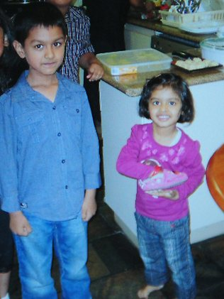 Diveish Sharma, 5, and his sister Divya, 3, were found dead in the Glen Waverley home