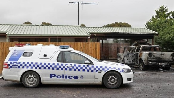 Police are investigating an attack at the home of Bill Vlahos.