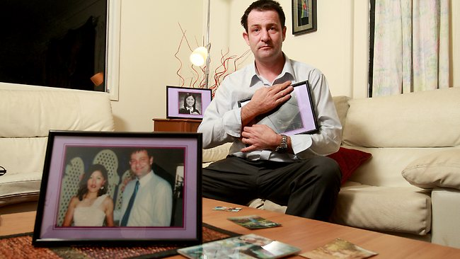 Cory Ryther with a treasured photo of his wife Joan