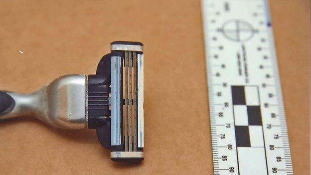 A razor belonging to Gerard Baden-Clay.