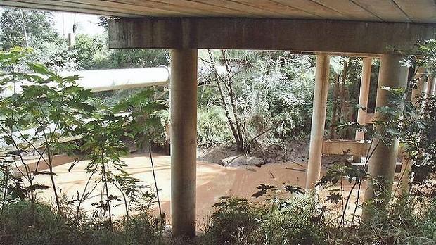Allison Baden-Clay's body was found under the Kholo Creek bridge. Photo-Court Exhibit