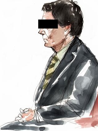Artist drawing of accused murderer Brett Peter Cowan.