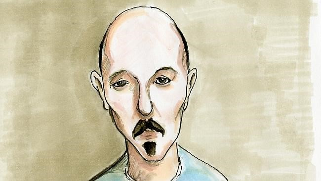 Artist's sketch of Mark Christopher Harvey during his November 2012 appearance in the Port Adelaide Magistrates Court