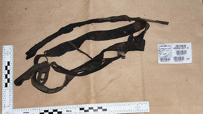 Brisbane Supreme Court evidence photo of underpants material found in the Sunshine Coast hinterland.
