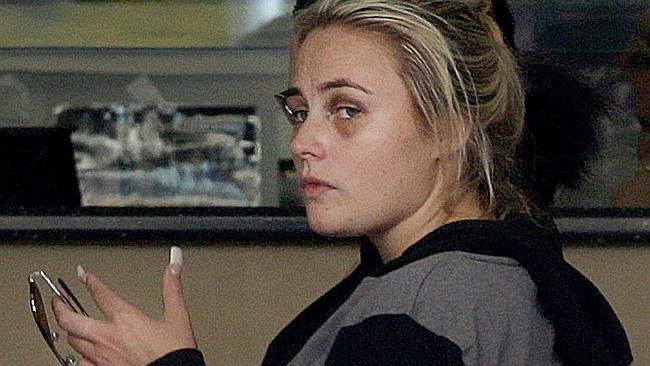 Bus attack accused Larna Watmough pictured at Southport police station on Friday