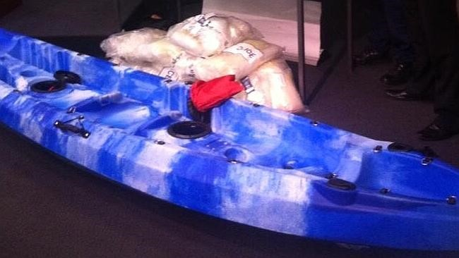 Concealed ... one of the imported kayaks carrying the meth into Australia.