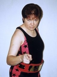Donna Marie Parsons in wrestling mode never lost a bout.