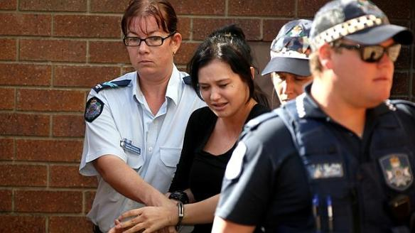 Gold Coast bus bash accused Layni Cameron at Coolangatta police station