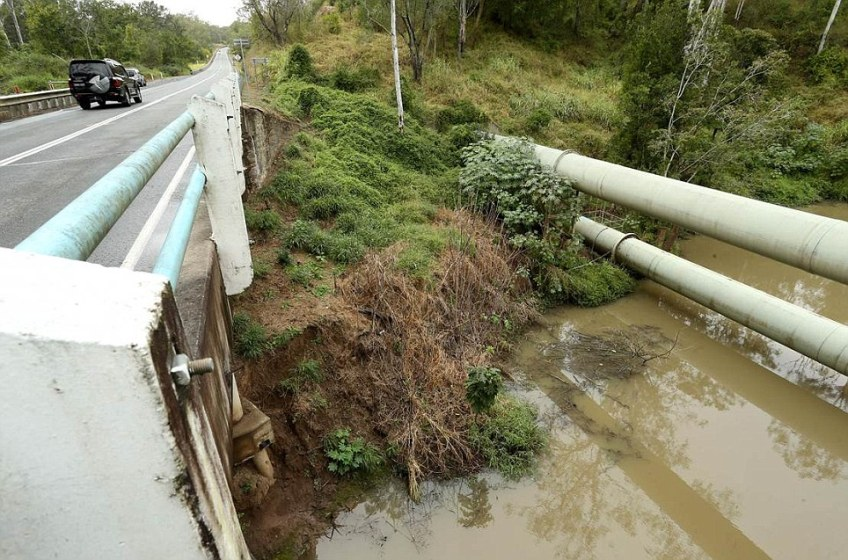 Police took interactive photos above Kholo bridge where Allison's body was found so they could later revisit the alleged crime scenes via computer