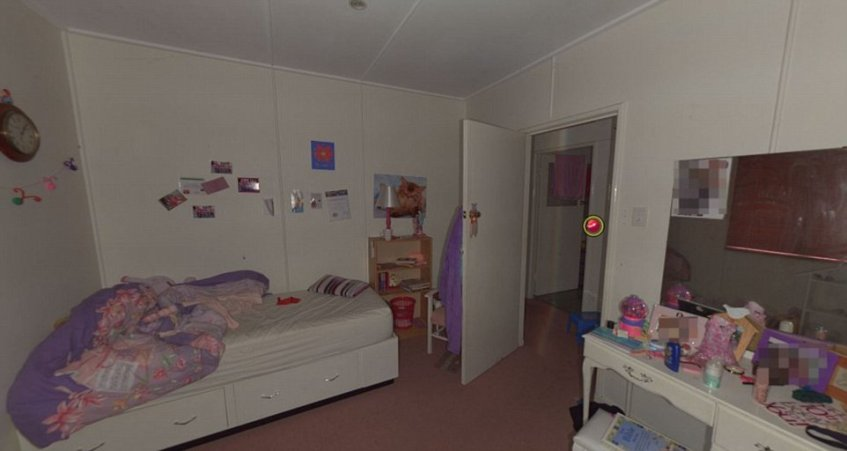 The girls' bedrooms show unmade beds, a number of photos, soft toys and even a doll house just days after their mother went missing