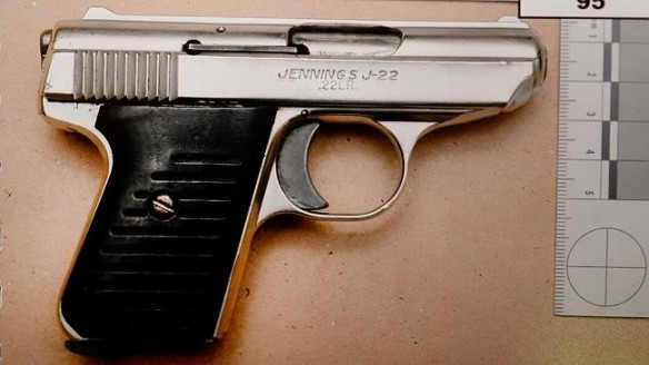 The .22 calibre handgun used to murder Lewis McPherson