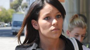 Latara Hunt, the mother of BJ, outside the Adelaide Magistrates Court during an earlier hearing.