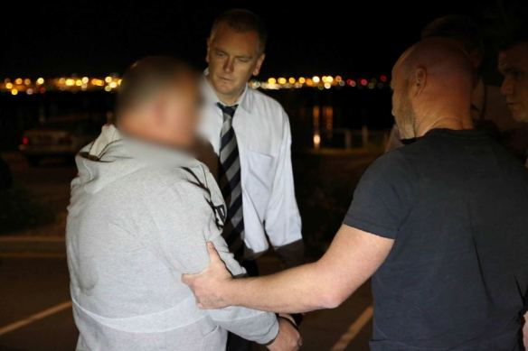 Police arrested Glen McNamara in the Sydney suburb of Kyeemagh last night