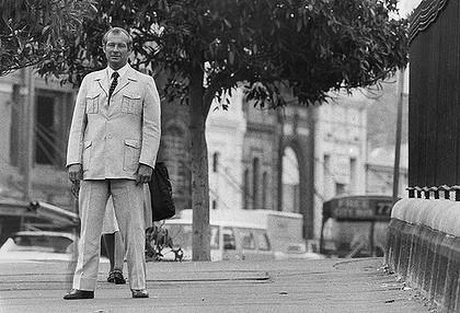 Roger Rogerson on Oxford Street in Sydney in 1982