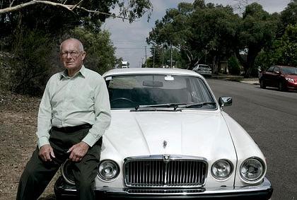 Roger Rogerson with his Jaguar XJ6