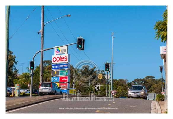 View of CCTV cameras at roundabout taken from Brookfield Rd.  No CCTV camera pointed at Brookfield RD. Both cameras only focused on Moggill Rd