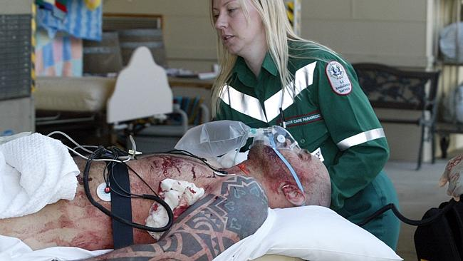 Former prison guard Rodney Ian Clavell after he was shot by a police sniper in the Adelaide Hills in 2004.