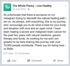 Belle Gibson Cancer charity scandal006