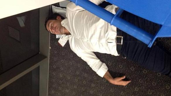 ANDREW Johns 'passed out' at Toowoomba airport.