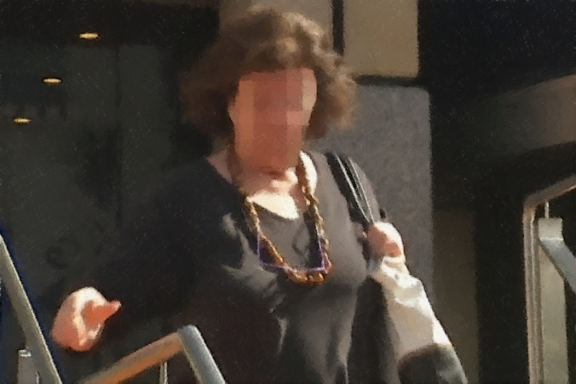 Sandford woman Robyn Clare Pearce walks from the Hobart Magistrate's Court