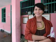 2009_ Schapelle Leigh Corby in front of her cell in Kerobokan Jail in Bali, Indonesia