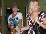 2010_ Mercedes Corby (right) visits sister Schapelle at Kerokoban Jail in Bali, Indonesia
