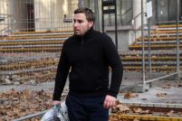 Adam Cranston leaves the Sydney Police Centre in Surry Hills after receiving bail AAP-Paul Miller