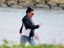 April 2017_ Schapelle Corby walking on a Bali beach