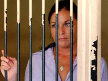 April 28, 2005_ Convicted drug smuggler Schapelle Corby in the holding cells at the Denpasar District Court in_0020