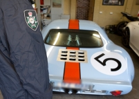 Adam Cranstons racing car-wedding car about to be confiscated