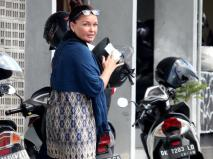 September 2015_ Schapelle Corby pictured at the Parole Board Office for her monthly meeting in Denpasar, Bali